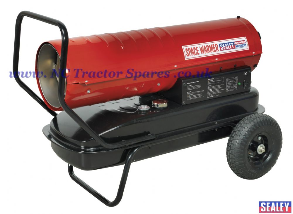 Space Warmer Paraffin, Kerosene & Diesel Heater 100,000Btu/hr with Wheels.